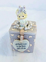 Precious Moments Trinket Box for Mom with loving Message Hearts Porcelain - $17.33
