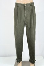 POLO RALPH LAUREN Men's 38(36) x 30 Olive Khaki Pleated Cuffed Hammond P... - $28.05
