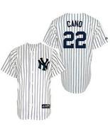 MLB Majestic New York Yankees Robinson Cano #22 Youth N.Y. Jersey Stitch... - $66.83