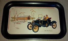 Advertising 1910 Ford Torpedo Metal Serving Collectible Tray - $5.93