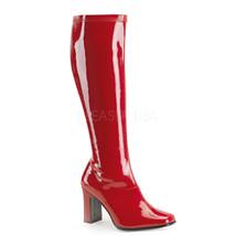 SALE Sexy Square Heel Red Patent Retro Mod 70's Gogo Costume Boots KIKI3... - $24.95