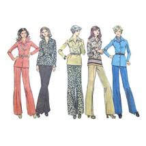 1970s Vintage Simplicity Sewing Pattern 6623 Half Size Shirt Pants 10.5 ... - $6.95