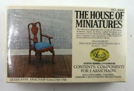 Vintage House Of Miniatures Queen Anne Armchair #40083 New Sealed - $29.95