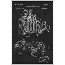 Vintage Patent Camera Photography Blueprint Poster, Camera Photo Art - $15.50
