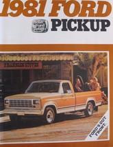 1981 Ford Pickup Truck Brochure F150 F100 Ranger Custom - $15.80