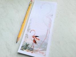 Flamingo Antique Illustration Magnetic Notepad, 50 Sheets image 2