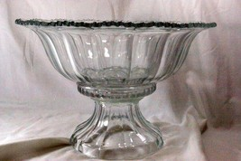 Indiana Glass 1940 Colonial Panel Punch Bowl With Stand 7195/253 - $58.49