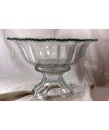 Indiana Glass 1940 Colonial Panel Punch Bowl With Stand 7195/253 - $62.99