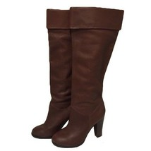 Colin Stuart Brown Leather Fold Over The Knee High Slouchy Boots Size 8.5 - $39.59