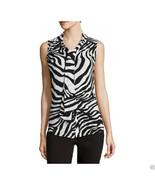 Liz Claiborne Zebra Front-Tie Top Size PM, PL, L New - $16.99