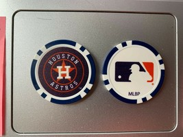 2 Houston Astros golf ball markers poker chips new - $9.00
