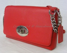 NWT! Coach Crosstown Crossbody In Polished Pebble Leather in True Red #53083 - $139.00