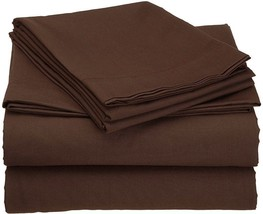 1000TC EGYPTIAN COTTON DUVETS/SHEETS/FITTED/FLAT UK-SIZE CHOCOLATE SOLID - $52.01+