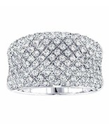 VIP Jewelry Art 2.00 CT TW Pave Set Concave Diamond Anniversary Ring in ... - $2,995.00