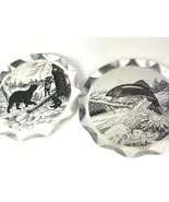 Vtg Brook Trout Black Bear Stylemaster Tray Plaques Reynolds Dob Mancave - $24.70