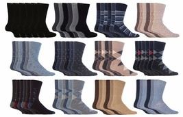 Gentle Grip - 6 Pack Mens Non Binding Cotton Diabetic BIGFOOT Socks 13-1... - $16.99