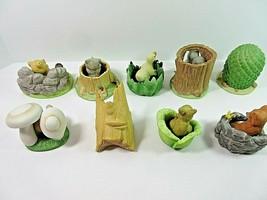 Lot of 9 Woodland Surprises Franklin Porcelain Figurines Jacqueline B Sm... - $27.53