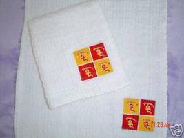 USC TROJANS COTTON  BAR TOWELS * SET OF  2  UNIQUE GIFT - $7.50