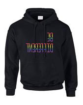 Adult Hoodie Be Different Gay Lesbian Rainbow Pride Sweatshirt - $29.94+