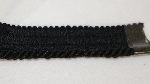 Wrights 1836140031JA Black Small Lip Cord Trim 12 Yards Cotton Blend