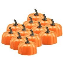 Anpress 12 Pcs Orange Pumpkin Tealights 3D Pumpkin Flameless Candle Ligh... - $21.09 CAD