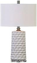 Uttermost 27142-1 Sesia Honeycomb Table Lamp, White - $272.80