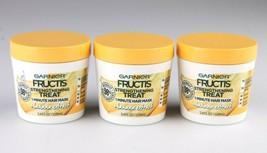 Ensemble de 3 Garnier Fructis Banane Extrait Renforcement Cheveux Masque... - $14.98