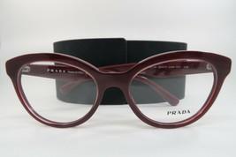 New Authentic Prada VPR 11R UAN-101 Shiny Dark Red Eyeglasses 52mm with Case - $98.75