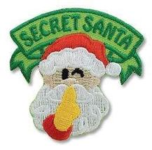 Cub Girl Boy SECRET SANTA Embroidered Iron-On Fun Patch Crests Badge Sco... - $4.90