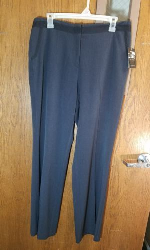 LIZ CLAIBORNE COMPANY AXCESS WOMENS DRESS PANTS SLACKS SIZE 12 CHARCOAL AXMU1203
