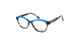 William Morris LN50026 Blue Top-Black Marble Eyeglass Eyeglasses Frames Women's - $199.95