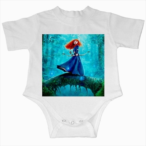 Primary image for Brave princess  infants baby creeper bodysuit romper newborn jumpsuit