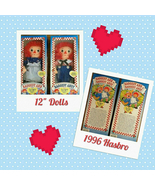 Hasbro Raggedy Ann and Andy Rag Dolls NIB 1996 - $38.00