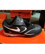 Nike Men's Keystone Low Baseball Cleats Black White 317087–011 Size 8 - $35.79