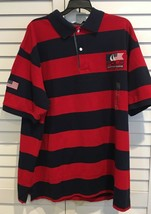 2XB POLO RALPH LAUREN Mens Short  sleeve Rugby Shirt Red blue top NWT - $54.82