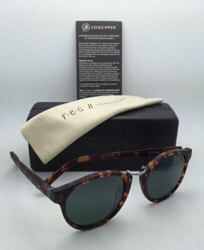F.C.G. VONZIPPER Sunglasses VZ STAX Tortoise & Pewter Frame w/ Grey-Green Lenses image 3