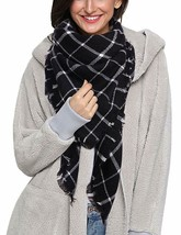 Dora Bridal Lady Women Blanket Oversized Tartan Scarf Wrap Shawl Plaid C... - $27.46+