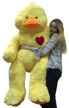 Giant Stuffed Duck 60 Inch Soft 5 Foot Plush Ducky, Heart on Chest to Sh... - $127.11