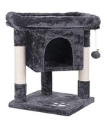 BEWISHOME Cat Tree Condo with Sisal Scratching Posts, Plush Perch and Ho... - $50.95
