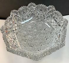 ABP cut glass Hunts Royal bowl antique crystal - $210.03