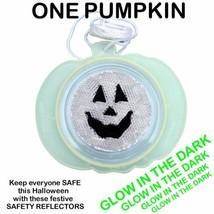 HALLOWEEN SAFETY REFLECTOR PUMPKIN GLOW IN THE DARK TRICK OR TREAT COSTU... - $11.57