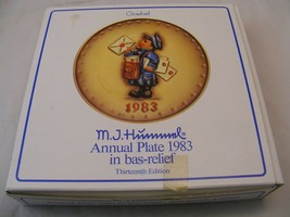 Vintage M.J. Hummel 1983 Annual Plate in Bas relief, Thirteenth Edition! NICE ! - $9.50