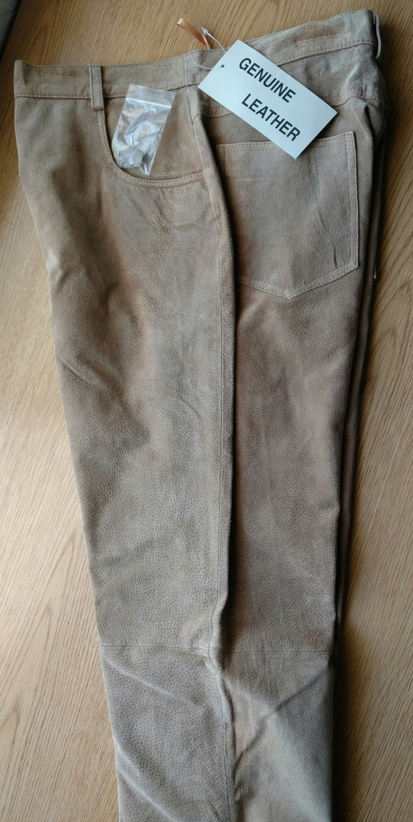 Primary image for Ladies Genuine Suede Leather 5-Pocket Jeans Size 8