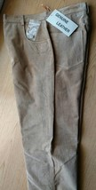 Ladies Genuine Suede Leather 5-Pocket Jeans Size 8  - $39.99