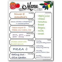 Magnetic Menu Dry Erase Weekly Meal Planner Board For Refrigerator - Inc... - €14,68 EUR
