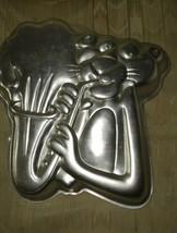 Vintage Wilton Pink Panther Saxophone Cake Pan Mold 1982 502-3902 United... - $17.07