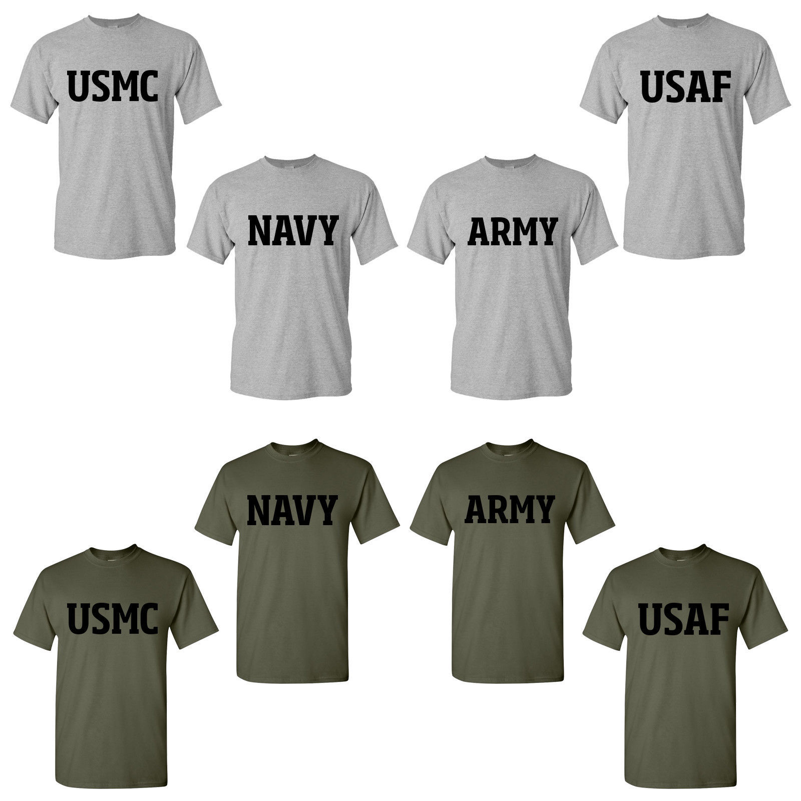 US Army Navy Air Force USAF Marines USMC Military Physical Training PT T Shirt for sale  USA