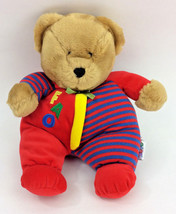 "Eden FAO Teddy Bear Red Blue Plush 12"" Brown Stripes Baby Velour Stuffed... - $42.66"