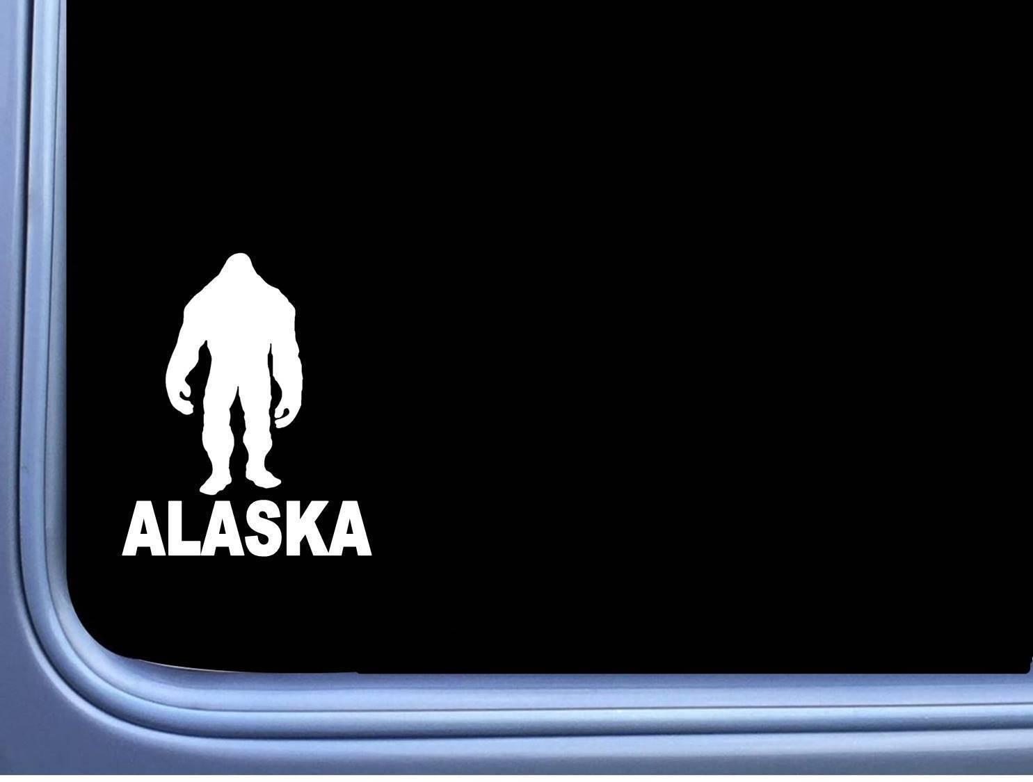 "Bigfoot Alaska State Sticker M175 6"" vinyl decal sasquatch squatch - $4.47"