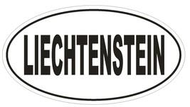 Liechtenstein Oval Bumper Sticker or Helmet Sticker D2193 Euro Oval Country Code - $1.39+